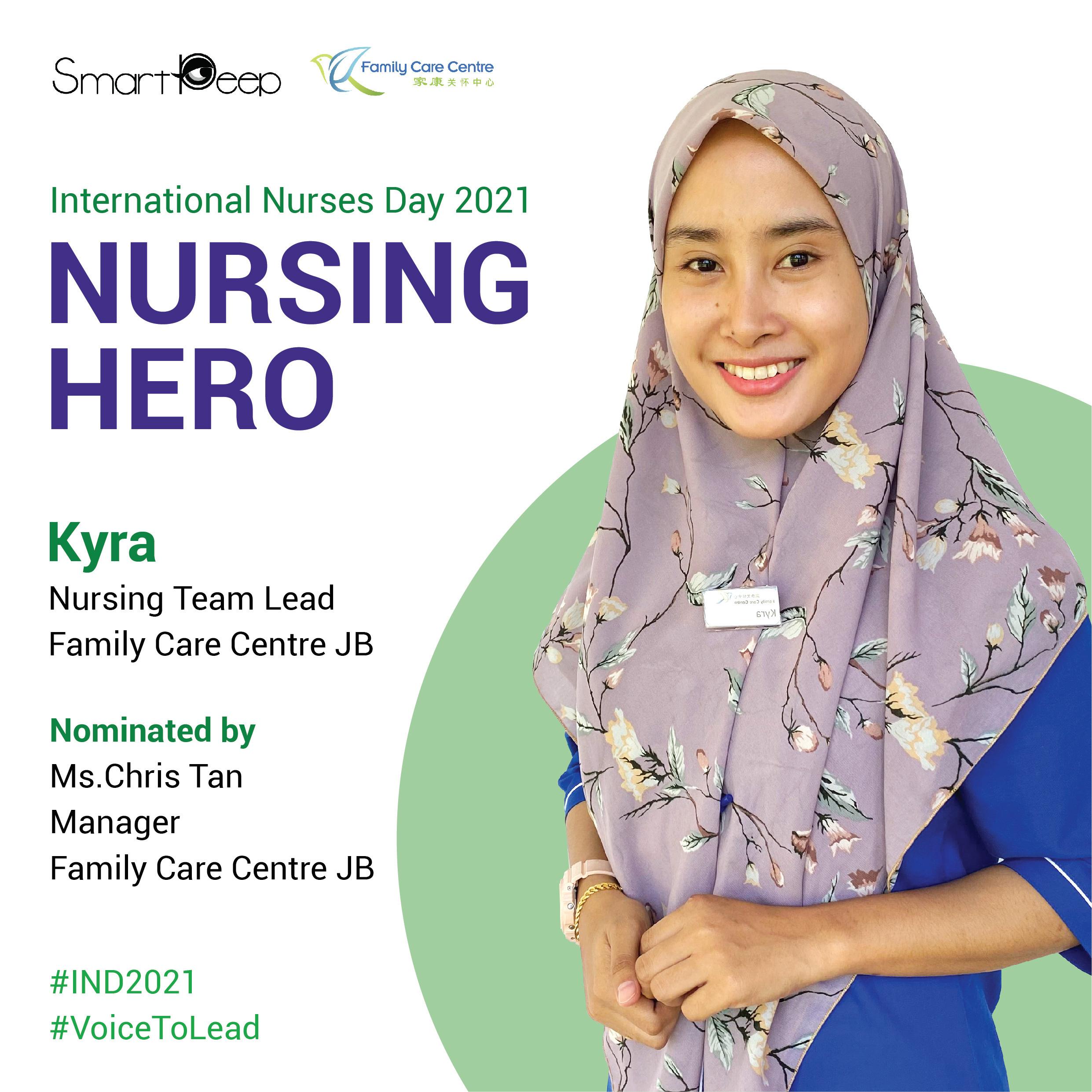 Introducing the Nursing Hero for International Nurses Day 2021:  Ms.Kyra from FCCJB
