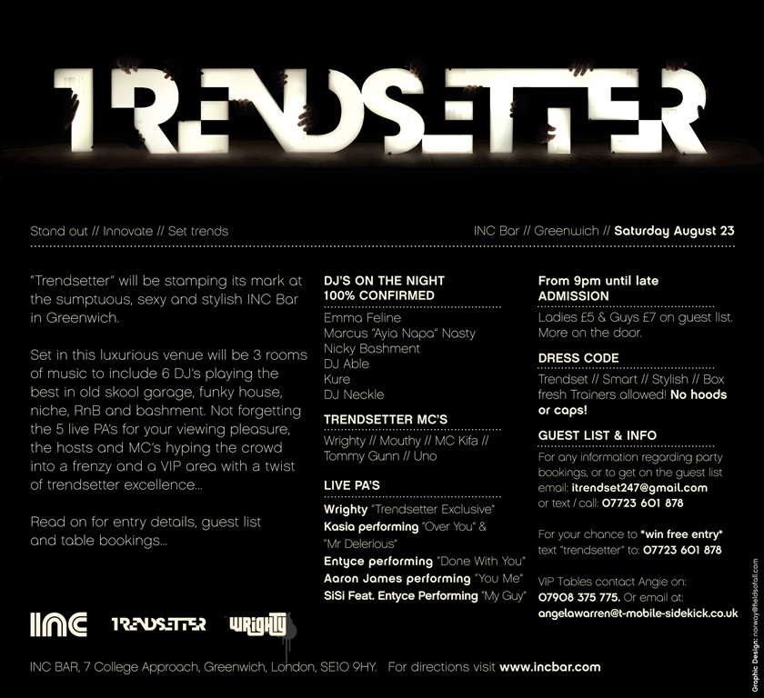 Trendsetter event where the clothing was first debuted