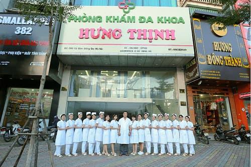 Phòng khám nam khoa uy tín Hưng Thịnh có bác sĩ, y tá thân thiện, nhiệt tình và chu đáo