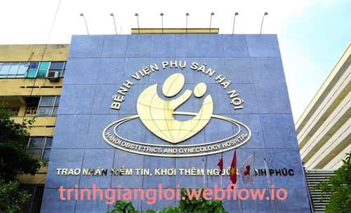 Khám vô sinh hiếm muộn ở Bệnh viện Phụ sản Hà Nội