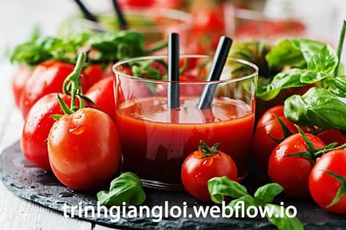 Nước ép cà chua - Nước uống giải khát mùa hè