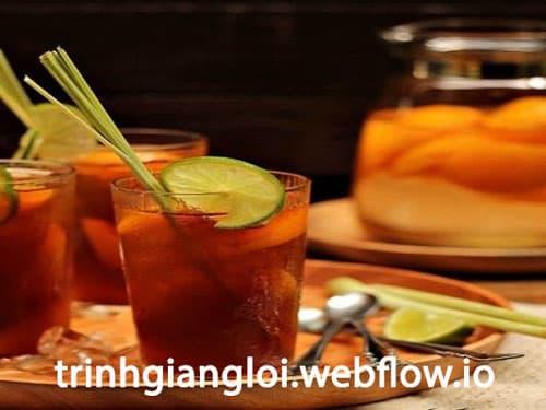 Trà đào chanh xả - Nước uống giải nhiệt mùa hè hiệu quả