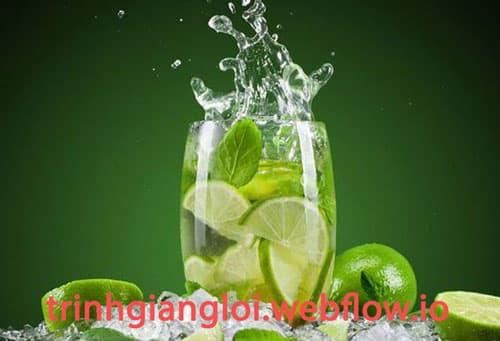 Nước chanh tươi thanh lọc cơ thể mùa hè