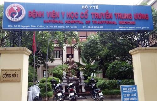 Phòng khám nam khoa uy tín Hà Nội - Bệnh viện Y học cổ truyền Trung Ương
