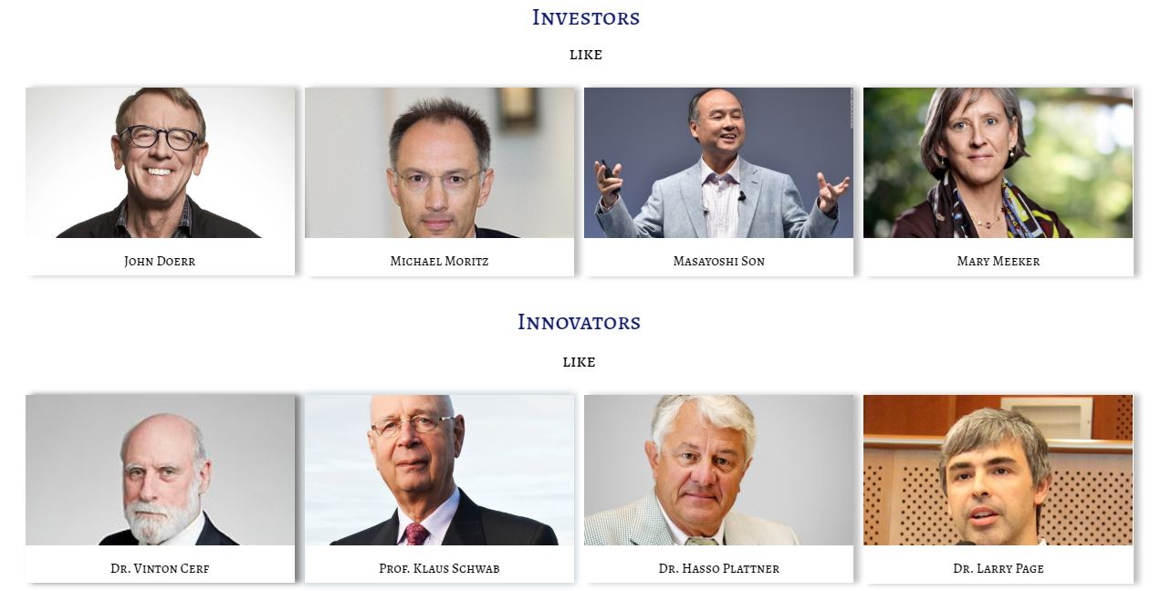 Image of Investors & Inovators whose Thoughts, Actions, Advice, Life & Inspiration are being tracked by Leaderclasses