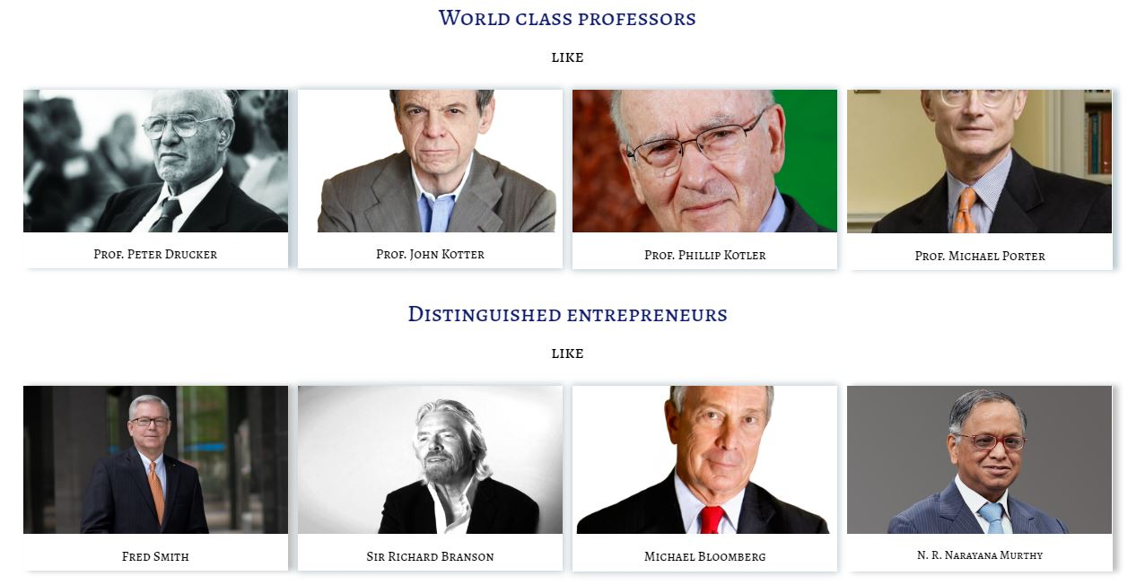 Image of World Class Professors & Entrepreneurs whose Thoughts, Actions, Advice, Life & Inspiration are being tracked by Leaderclasses