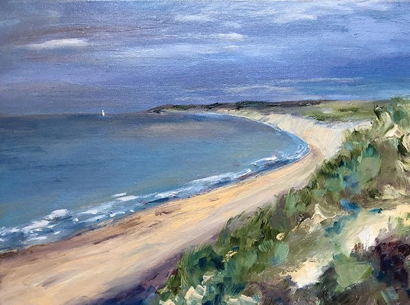 Summer Light Northumberland Coast, oil painting by Maria Laffey
