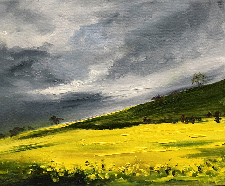 Oil Seed Rape, Oil on Canvas Painting by Maria Laffey
