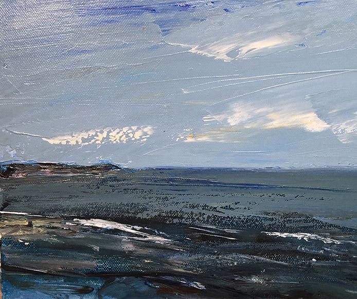 Northumberland Coast Painting by Maria Laffey