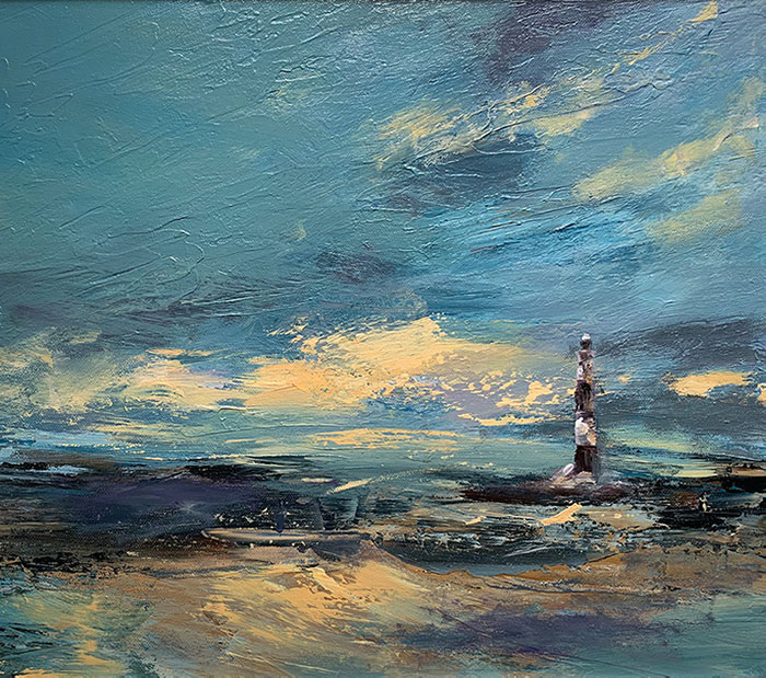Dungeness New Lighthouse by Maria Laffey