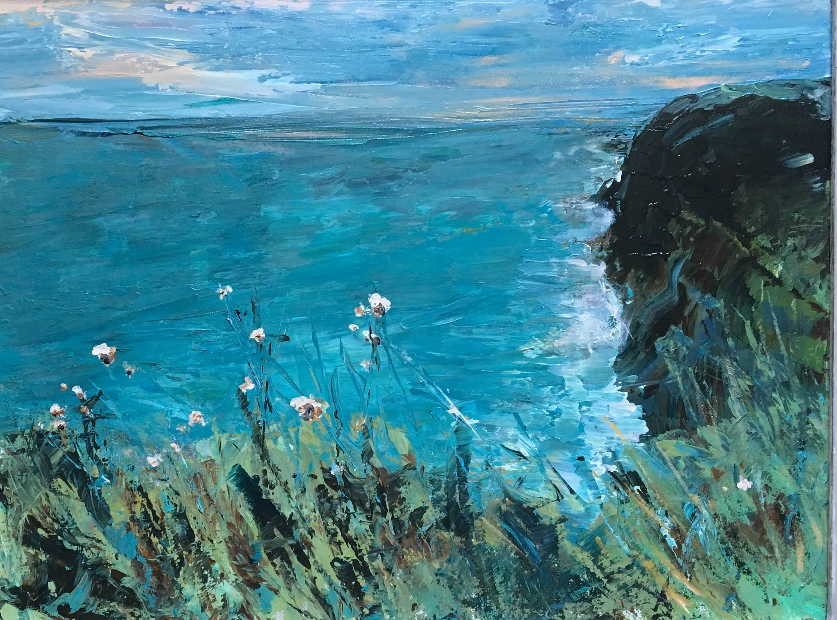oil painting seascape cleveland way east coast path whitby scarborough