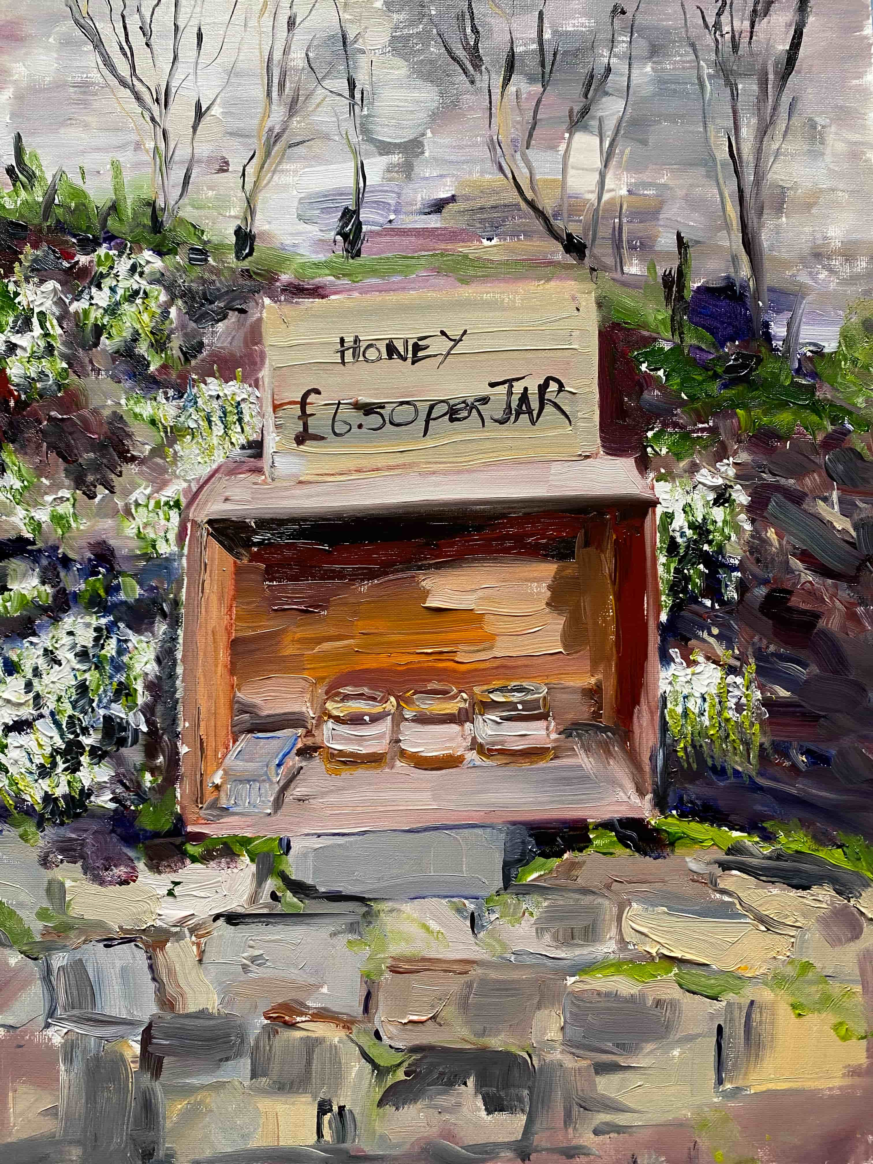 oil painting jars of honey for sale