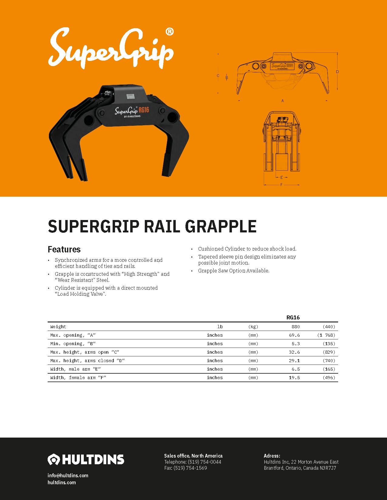 Rail Grapple RG16 (CAN)