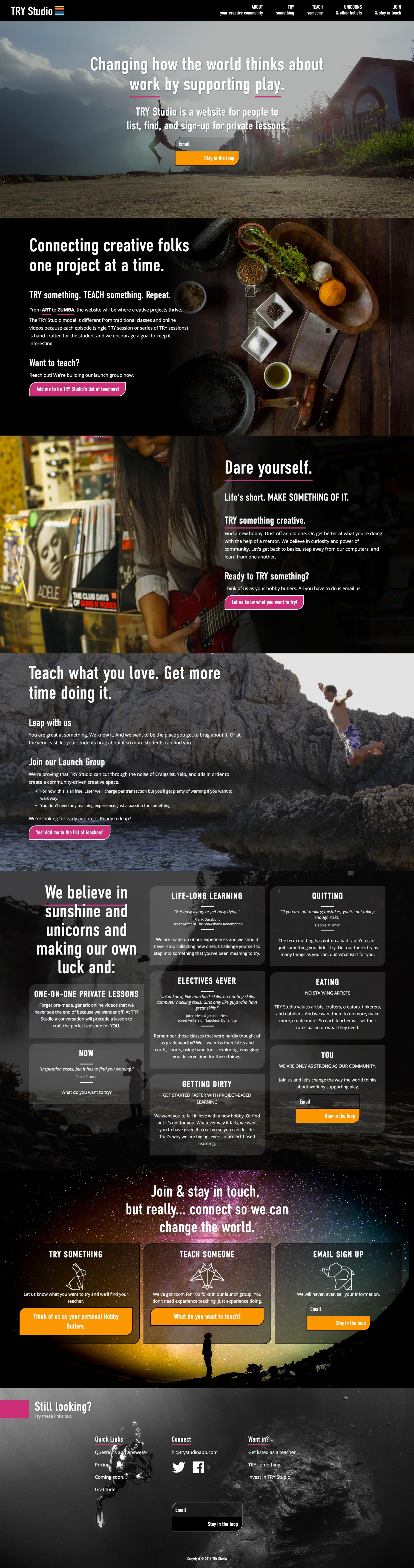 TRY Studio Home Page