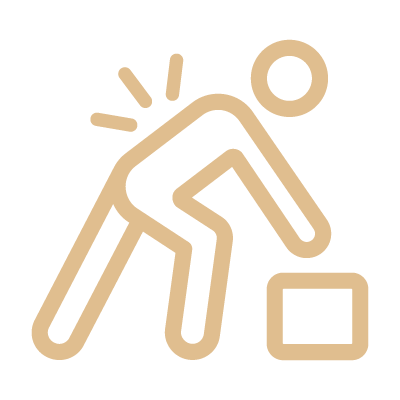 Workplace Injury Hurt Back Icon
