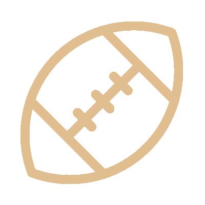 Football Sports Gold Icon