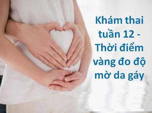 Thai 12 tuần tuổi như thế nào biết trai hay gái chưa 8