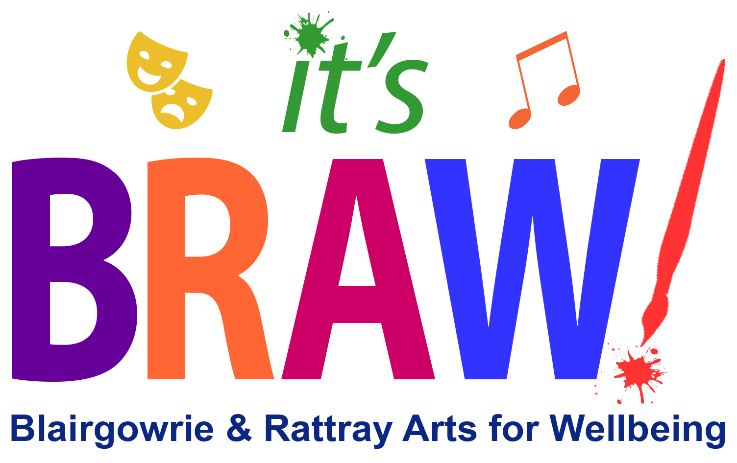 Logo for Blairgowrie & Rattray Arts for Wellbeing festival