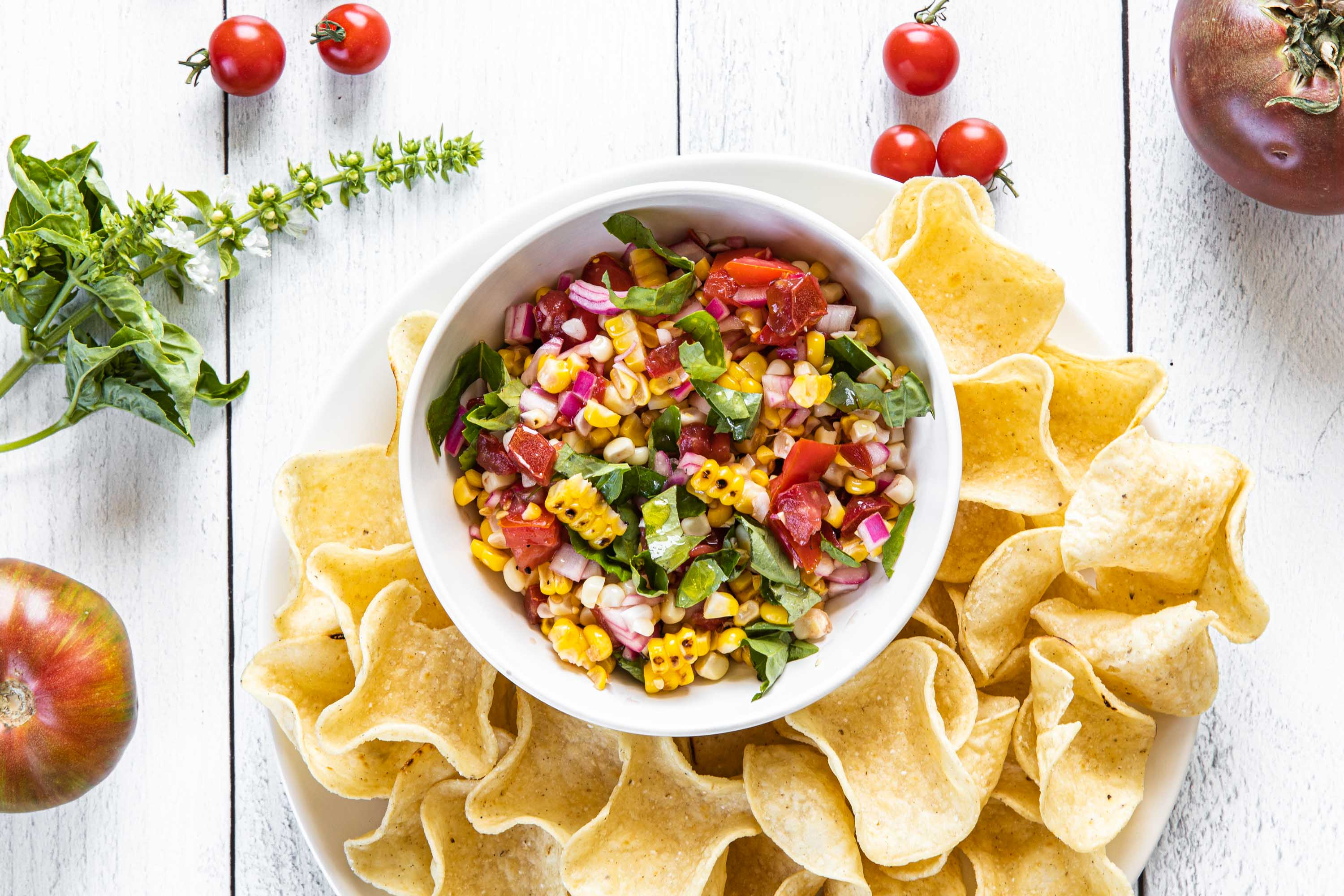 Grilled Corn and Tomato Salsa