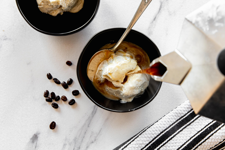 Affogato with No-churn Vanilla Ice Cream