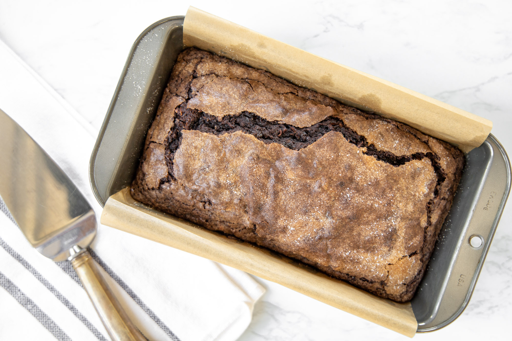Chocolate Loaf Cake with Zucchini and Olive Oil