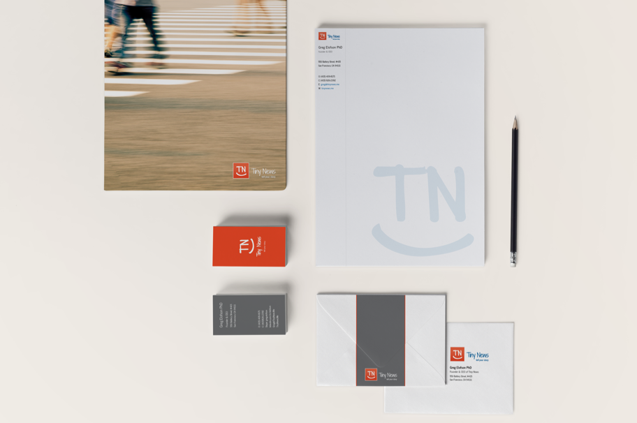 Tiny News Stationery graphic