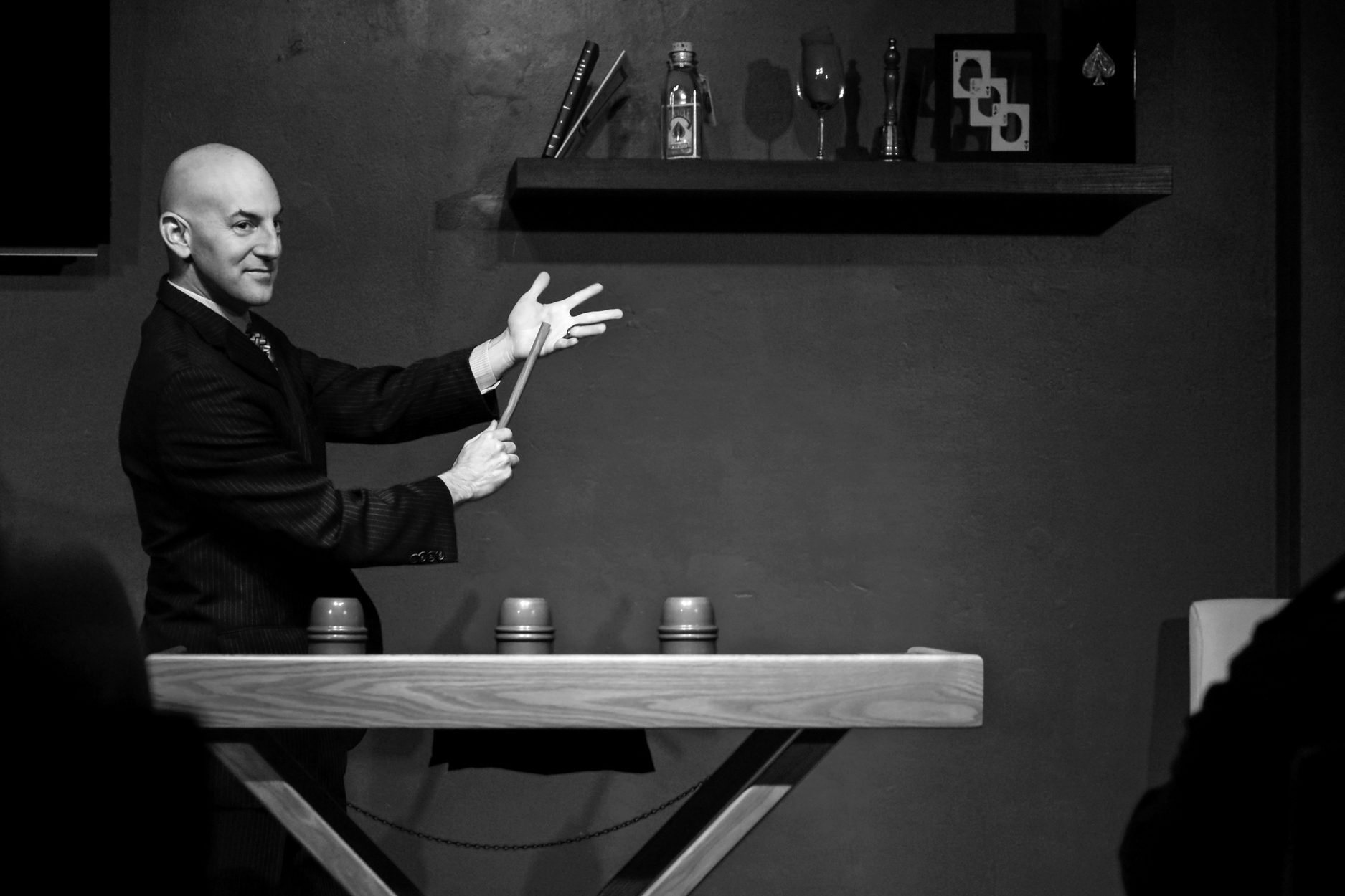 Magician Sebastian performs Intimate Miracles at the Red Spade Theater