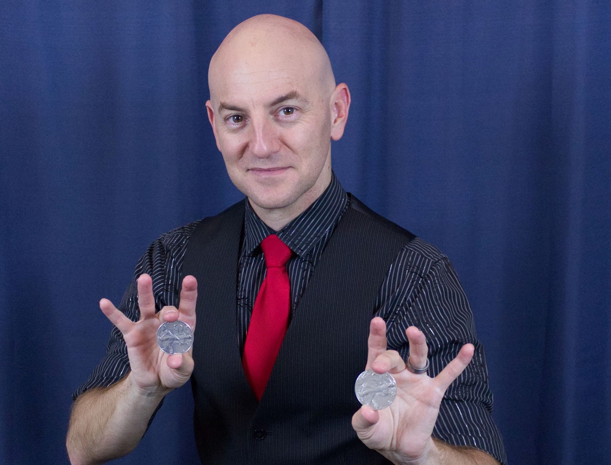 Red Spade Theater San Diego audience member amazed at magic show