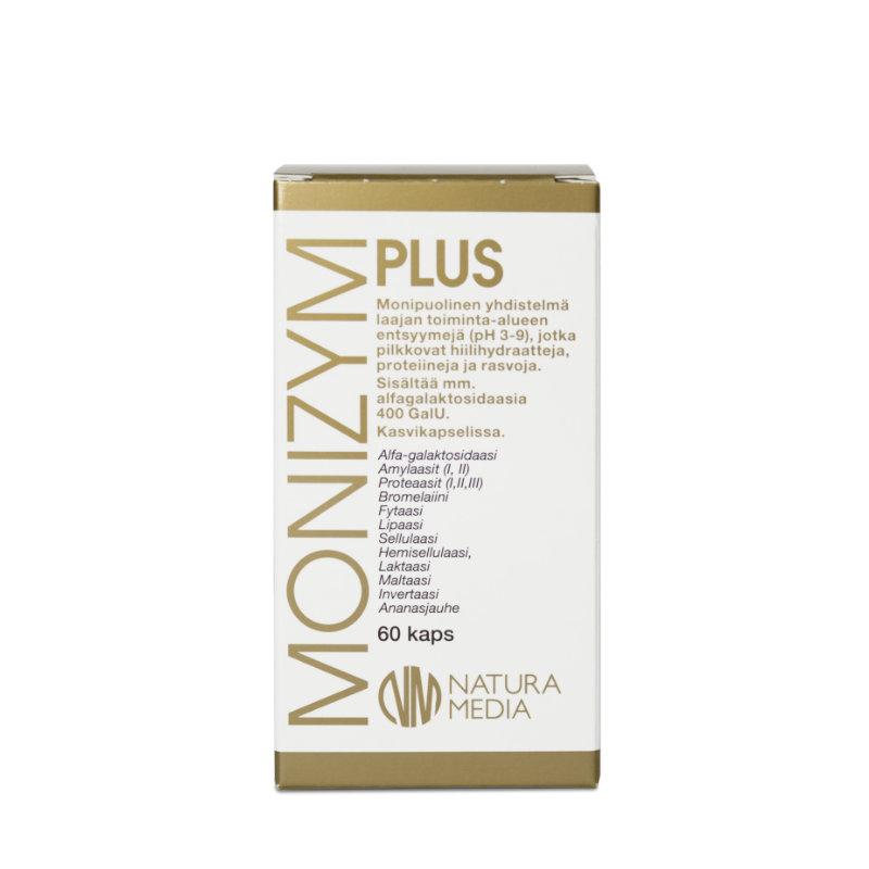 Natura Median Monizym Plus entsyymivalmisteen tuotekuva.