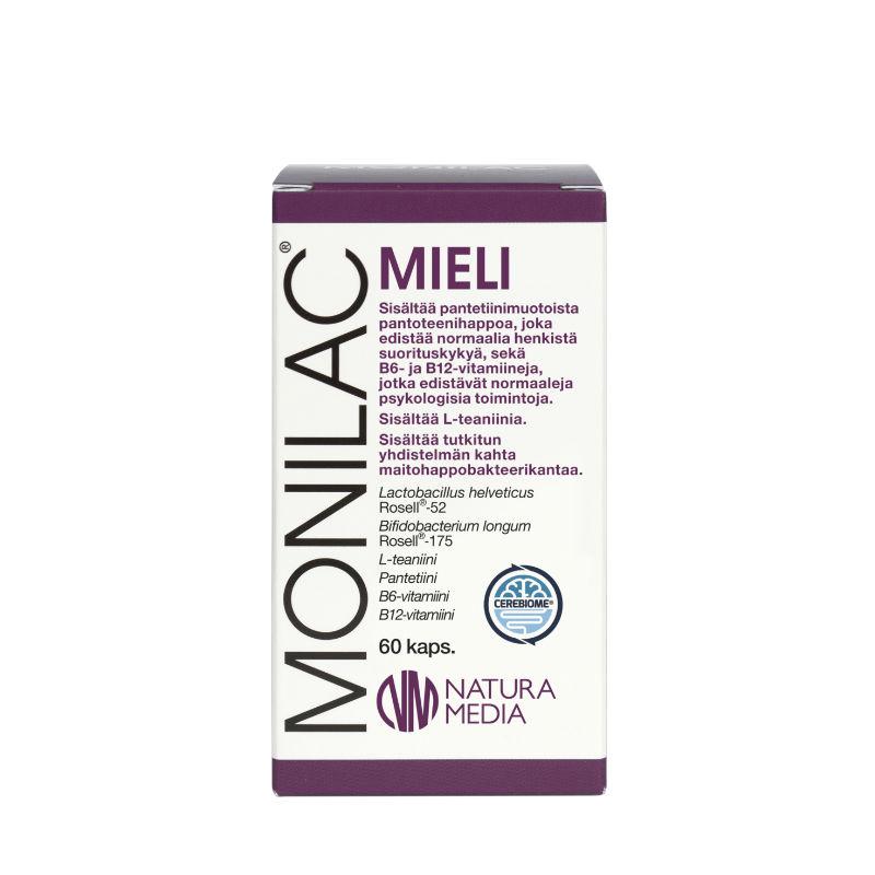 Natura Median MONILAC Mieli maitohappobakteerin tuotekuva.