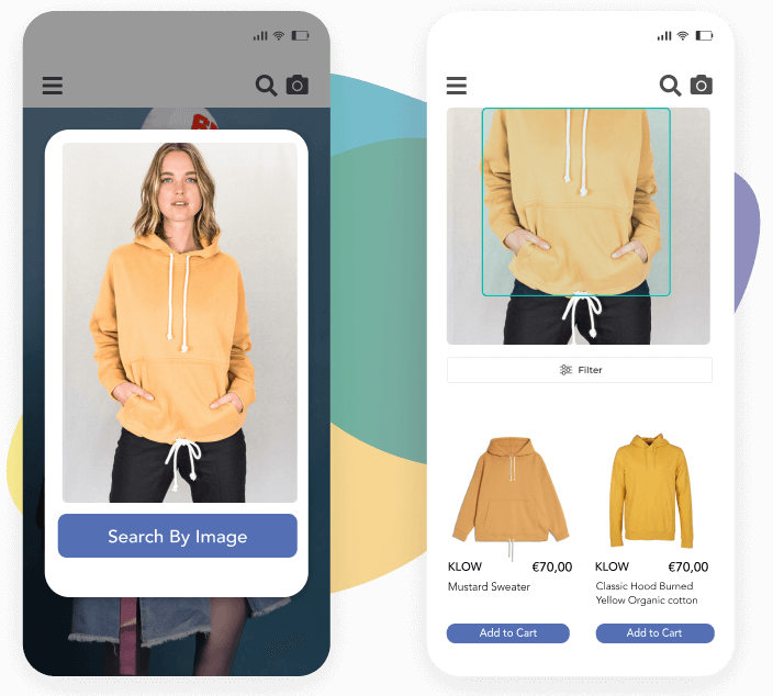 Visual search for a yellow sweater