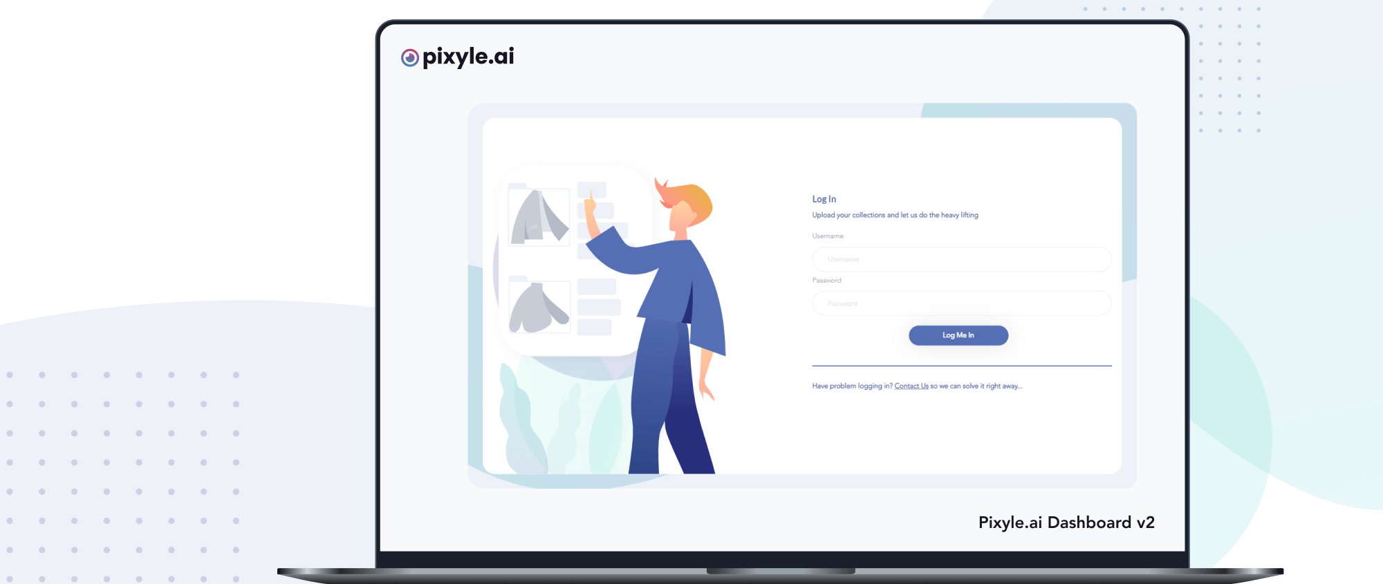 Login form for Pixyle.ai Dashboard v2