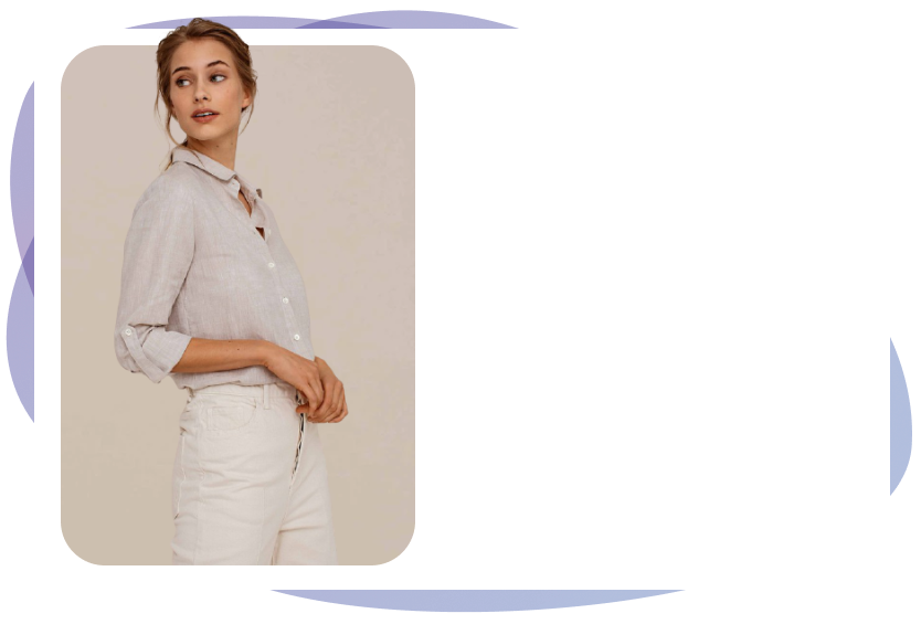 Image of a girl wearing shirt and trousers.