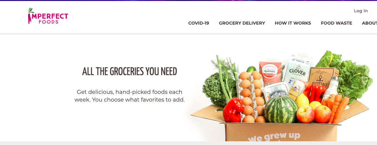 imperfect foods homepage