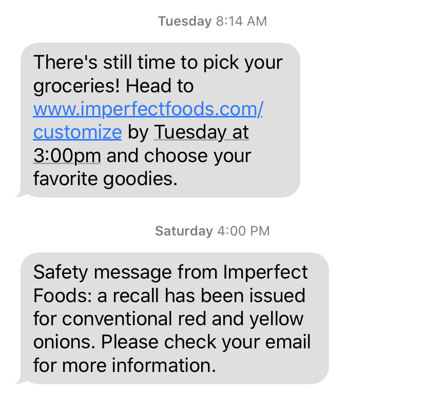 marketing text message
