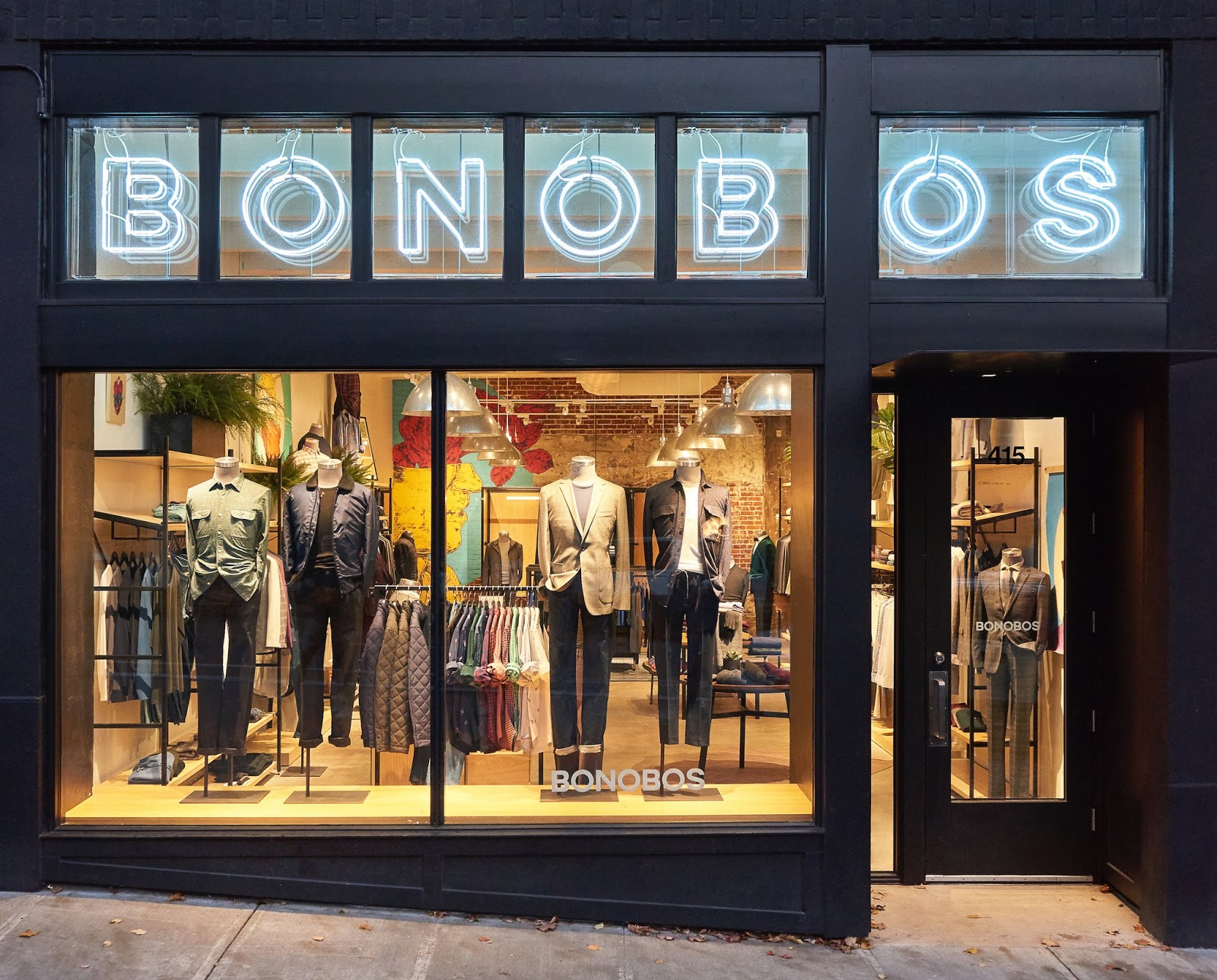 window display of bonobos shop