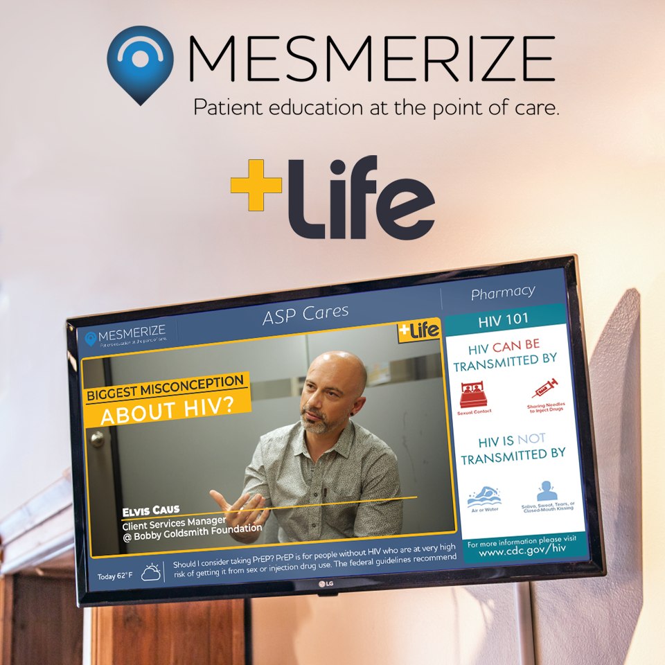 Mesmerize Partners With AO Media's +Life To Bring Patients Leading HIV/AIDS Education