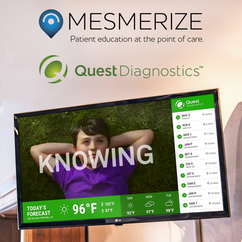 Mesmerize Expands Digital Network Into Quest Diagnostics Labs