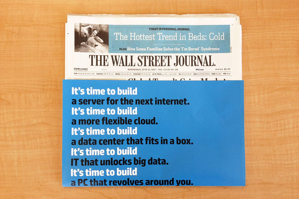 OOH advertising with Wall Street Journal newspaper wraps