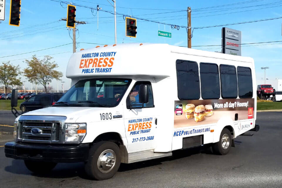 transit advertising with paratransit kings on vehicles