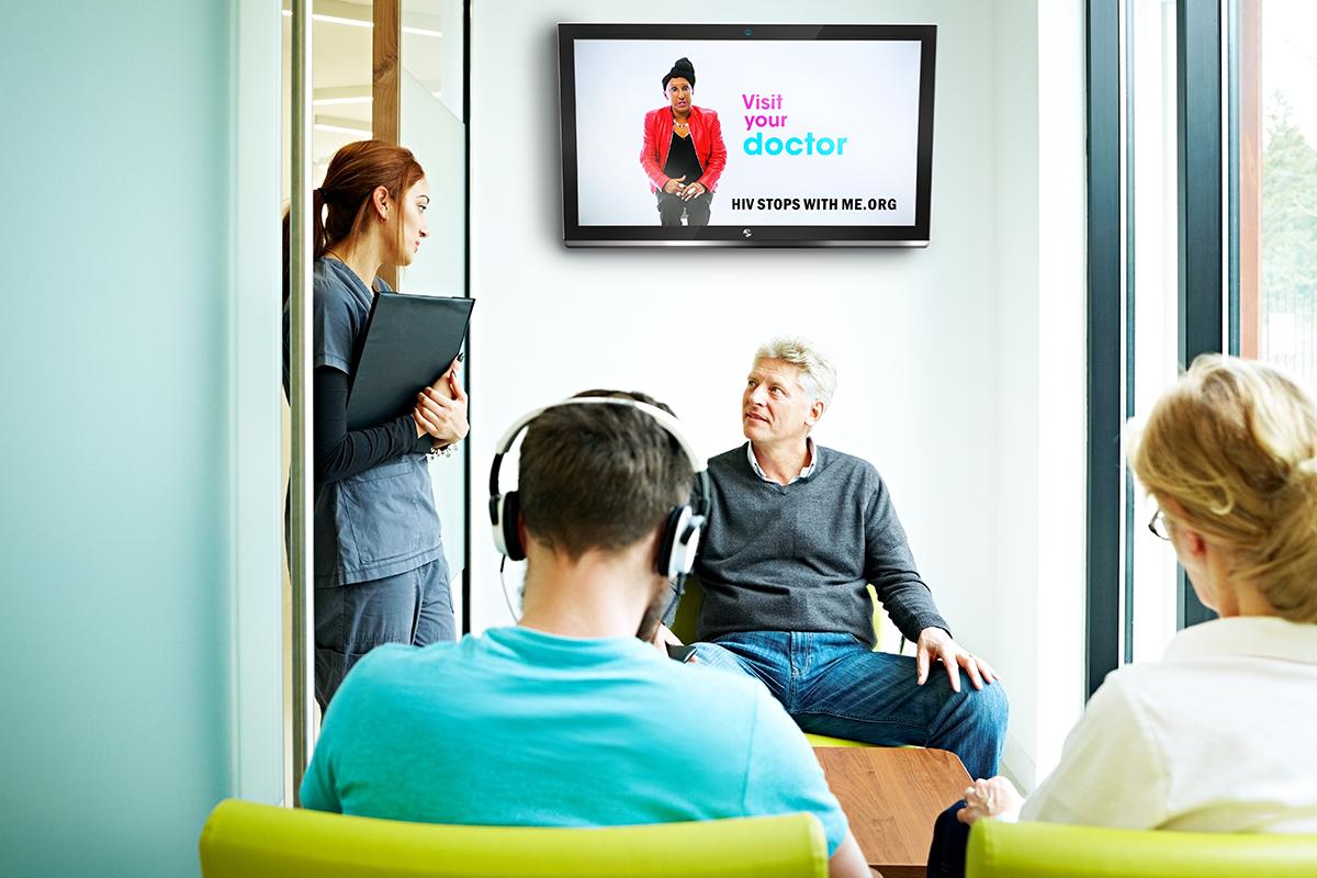 digital screens at community based organizations