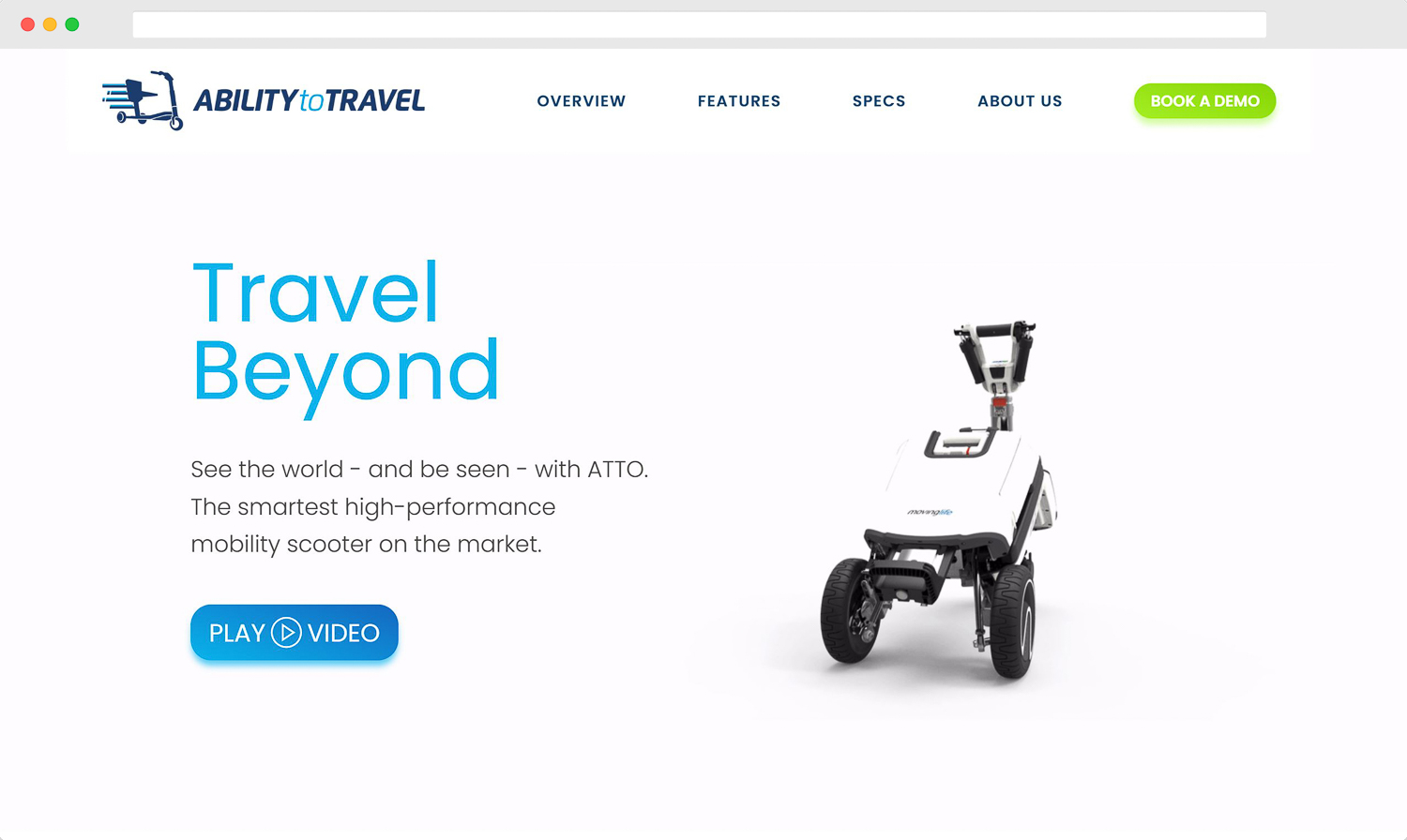 Ability to Travel Homepage Desktop