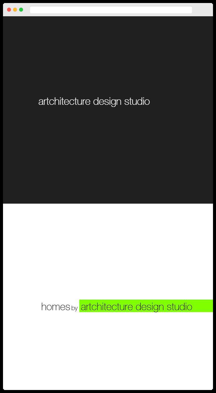 Artchitecture Design Studio - Homepage Mobile