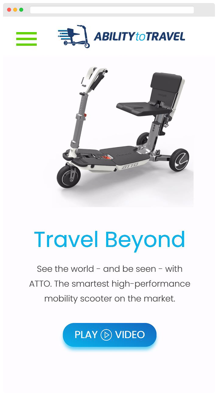 Ability to Travel - Homepage Mobile