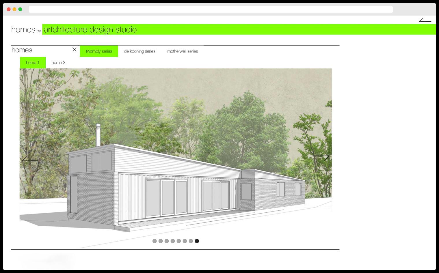 Artchitecture Design Studio Website