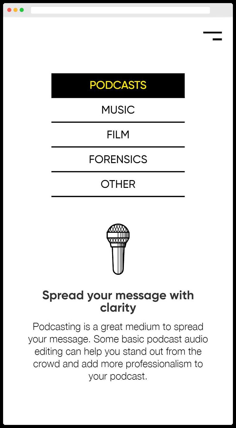 Harmonious Audio Homepage Mobile