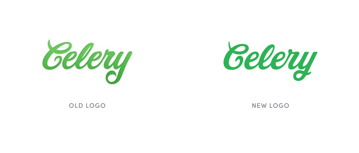 New logo provided similar organic look & feel with better legibility