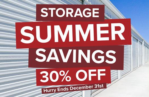 Storage Summer Savings