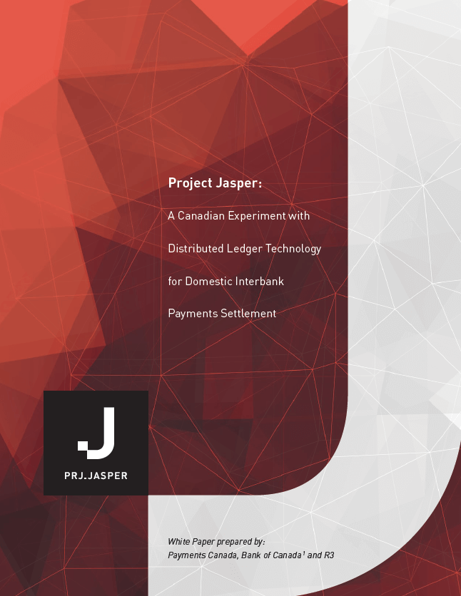 Project Jasper: A Canadian Experiment with DLT for Domestic Interbank Payments Settlement
