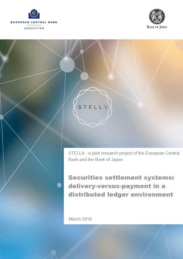Project Stella. Securities settlement systems: Delivery versus payment in a distributed ledger environment